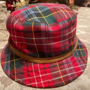 Authentic Coach Bucket Hat Red Plaid
